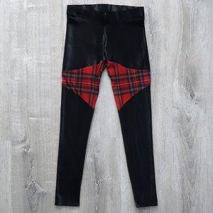 BLACKMILK Spartans Tartan black leggings red plaid